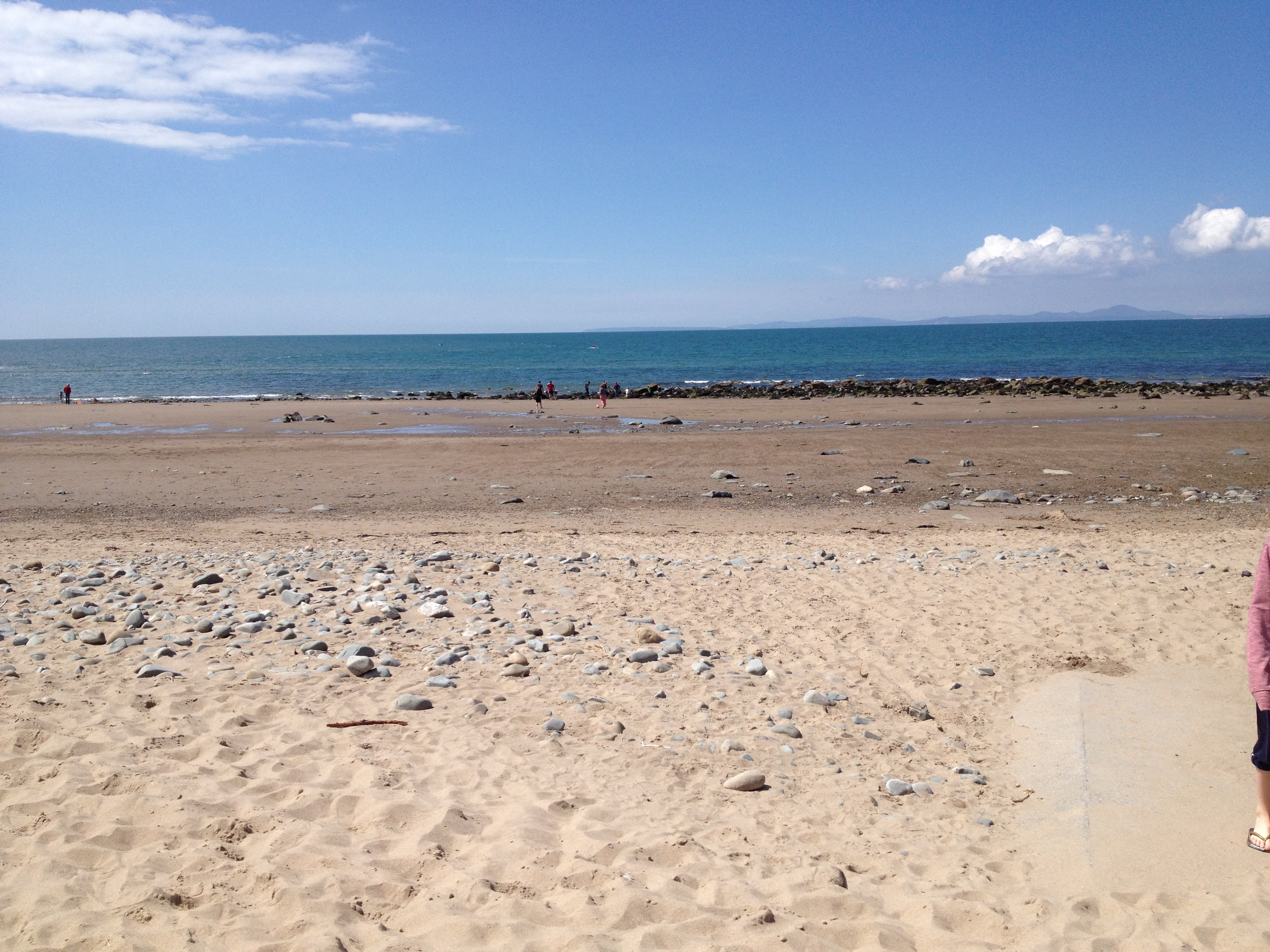 Low tide at Llandanwg showing sandy beach